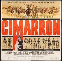 4s240 CIMARRON 6sh '60 directed by Anthony Mann, Glenn Ford, Maria Schell, cool artwork!