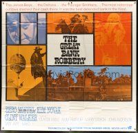 4s257 GREAT BANK ROBBERY int'l 6sh '69 cool montage of Zero Mostel, Kim Novak & top cast!