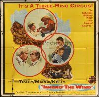 4s263 INHERIT THE WIND 6sh '60 Spencer Tracy, Fredric March, Gene Kelly, it's a three-ring circus!