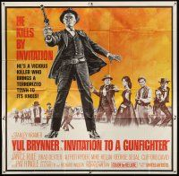 4s264 INVITATION TO A GUNFIGHTER 6sh '64 vicious killer Yul Brynner brings a town to its knees!