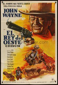 4s134 CHISUM Argentinean '70 The Legend big John Wayne, cool completely different artwork!