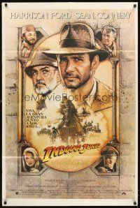 4s167 INDIANA JONES & THE LAST CRUSADE Argentinean '89 art of Ford & Sean Connery by Drew Struzan!