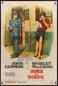 4s168 IRMA LA DOUCE Argentinean '63 Billy Wilder, great art of Shirley MacLaine & Jack Lemmon!