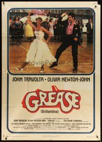 4s397 GREASE Italian 1p '78 John Travolta & Olivia Newton-John in a most classic musical!