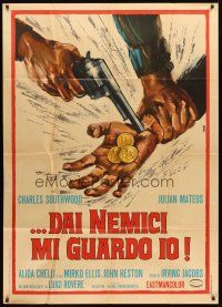 4s410 I PROTECT MYSELF AGAINST MY ENEMIES Italian 1p '68 really cool Avelli spaghetti western art!