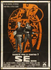 4s411 IF Italian 1p '69 Malcolm McDowell, directed by Lindsay Anderson, different grenade image!