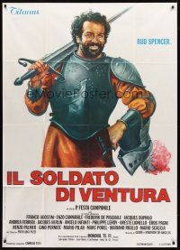 4s413 IL SOLDATO DI VENTURA Italian 1p '76 art of soldier of fortune Bud Spencer wearing armor!