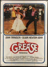 4s054 GREASE Italian 2p '78 John Travolta & Olivia Newton-John in a most classic musical!