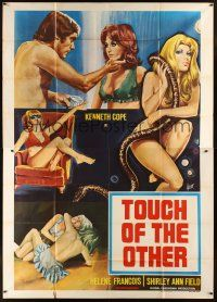 4s058 HOUSE OF HOOKERS Italian 2p '73 Touch of the Other, art of sexy prostitutes by Aller!