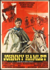 4s061 JOHNNY HAMLET Italian 2p '68 Gilbert Roland in William Shakespeare spaghetti western!