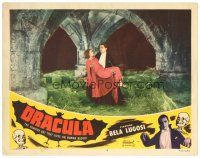 4w178 DRACULA LC #8 R51 best image of vampire Bela Lugosi with cape carrying Helen Chandler!