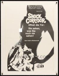 4x055 SHOCK CORRIDOR linen German '60s Sam Fuller's masterpiece, different sexy naked girl image!