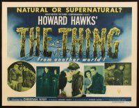 4x004 THING style A 1/2sh '51 Howard Hawks classic horror, shows five scenes from the movie!