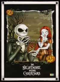 4x051 NIGHTMARE BEFORE CHRISTMAS linen Chilean commercial poster '93 Tim Burton, different art!