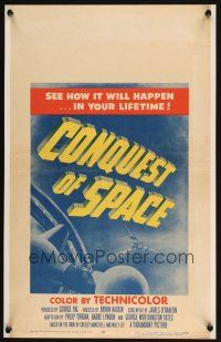 4x015 CONQUEST OF SPACE WC '55 George Pal sci-fi, see how it will happen in your lifetime!
