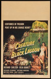 4x012 CREATURE FROM THE BLACK LAGOON signed WC '54 by Jack Arnold, art of monster & scuba divers!