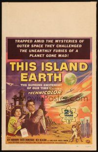 4x023 THIS ISLAND EARTH WC '55 they challenged the unearthly furies of a planet gone mad!
