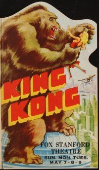 4x029 KING KONG die-cut herald '33 many wonderful special effects scenes with cool monster artwork!