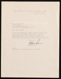 5a062 ARTHUR PENN signed letter '74 writing extremely frank turn down of Carlino's screenplay!