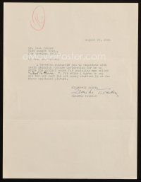 5a067 DIMITRI TIOMKIN signed letter '45 hiring Paul Kohner to negotiate on score of Duel in the Sun