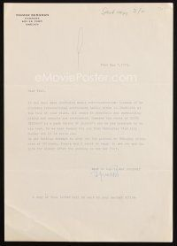 5a071 INGMAR BERGMAN signed letter '72 inviting agent Paul Kohner to dinner when he gets to Sweden!