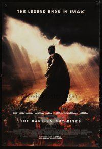 5b167 DARK KNIGHT RISES DS IMAX 1sh '12 Christian Bale as Batman, the legend ends!