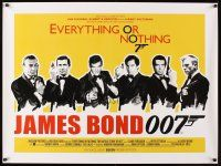5h524 EVERYTHING OR NOTHING: THE UNTOLD STORY OF 007 DS British quad '12 all James Bonds, rare!