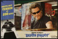 5k245 DEATH PROOF special 27x40 '07 Quentin Tarantino's Grindhouse, Kurt Russell as Stuntman Mike!