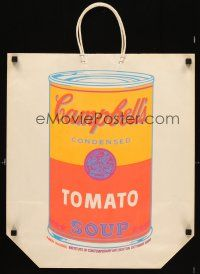 5m001 ANDY WARHOL CAMPBELL SOUP BAG 17x24 museum exhibition promo shopping bag '66 silkscreen art!