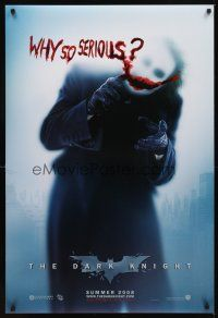 5w231 DARK KNIGHT teaser DS 1sh '08 Heath Ledger as the Joker, why so serious?