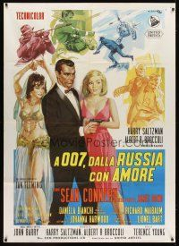 5s436 FROM RUSSIA WITH LOVE Italian 1p '64 Sean Connery as James Bond 007, different Ciriello art!