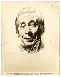 5x349 HOUSE OF ROTHSCHILD 8x10 still '34 great artwork portrait of George Arliss by Sal!