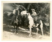 5x352 HULA 8x10 still '27 Clara Bow wearing straw hat with old man on horses in Hawaii!