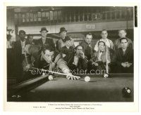 5x355 HUSTLER 8x10 still '61 the boys in the pool room stare at Paul Newman lining up his shot!