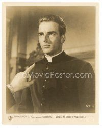 5x359 I CONFESS 8x10 still '53 Alfred Hitchcock, priest Montgomery Clift is questioned!