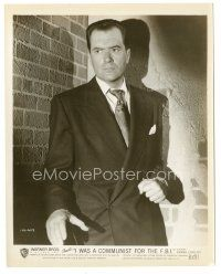 5x363 I WAS A COMMUNIST FOR THE FBI 8x10 still '51 close up of Commie Frank Lovejoy in suit & tie!