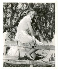 5x364 IDA LUPINO 8x10 still '41 climbing fence on her estate to pick flowers by Scotty Welbourne!