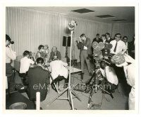 5x387 JAMES STEWART 8x10 news photo '60s the great star being filmed at a press conference!