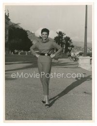 5x391 JANE RUSSELL 7.25x9.5 still '54 full-length standing outside with short hair by Ed Quinn!