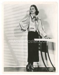 5x394 JANET GAYNOR 8x10 still '30s full-length portrait of the pretty star modeling cool dress!