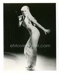5x397 JAYNE MANSFIELD 8x10 still '50s full-length in wild sexy see-through outfit & smoking!