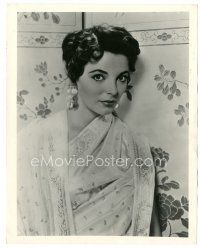 5x412 JOAN COLLINS 8x10 still '55 the sexy English star close up wearing great nightgown!