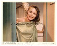 5x014 JET PILOT color 8x10 still '57 c/u of sexiest Janet Leigh getting out of the shower!