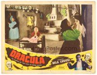 5y374 DRACULA LC #7 R51 women inside room praying to be protected from the vampires!