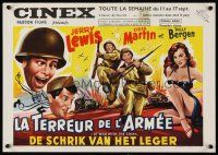 6a006 AT WAR WITH THE ARMY Belgian '51 wacky Dean Martin & Jerry Lewis, sexy Polly Bergen!
