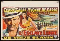 6a007 BAND OF ANGELS Belgian '57 Clark Gable buys beautiful slave mistress Yvonne De Carlo!