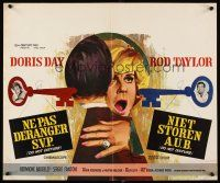 6a013 DO NOT DISTURB Belgian '65 Rod Taylor, Hermione Baddeley, Ray art of Doris Day!