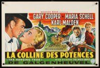 6a016 HANGING TREE Belgian '59 Delmer Daves, cool art of Gary Cooper & Maria Schell!