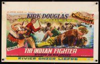 6a019 INDIAN FIGHTER Belgian '55 art of fighting Kirk Douglas, romancing Elsa Martinelli!
