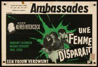 6a020 LADY VANISHES Belgian R60s cool different art of Alfred Hitchcock, Lockwood!